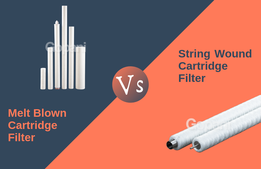 String wound cartridge filter vs melt blown cartridge filter